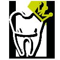 Tandfyldninger,  kroner og broer